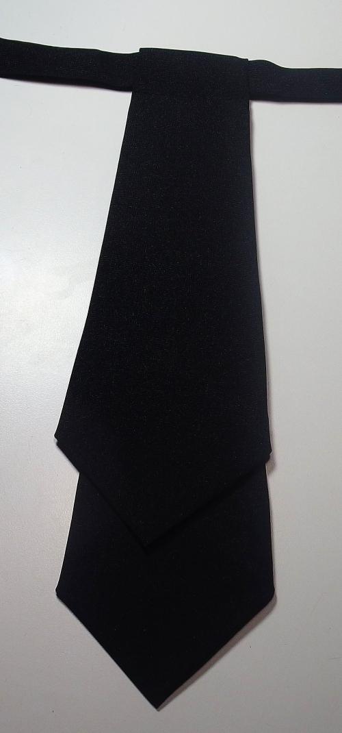 Галстук форменный женский черный