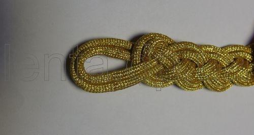 Позумент плетеный золотистый р.8