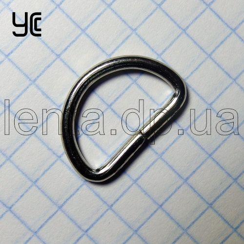 16мм Полукольцо металлическое КМ202 никель