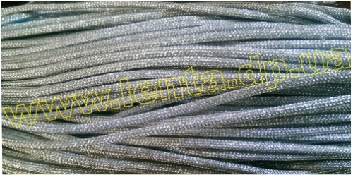 Шнур плетеный р.2366 серебро 3мм