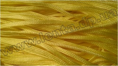 Шнур плетеный без наполнителя р.2772 желтый