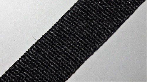 23мм Лента окантовочная репсовая р.2900 черная