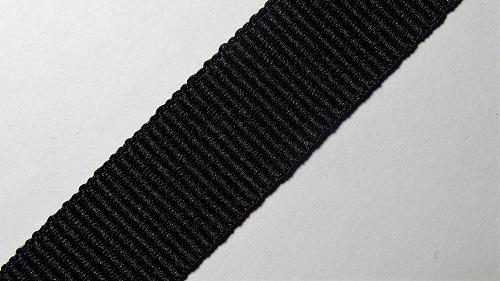 20мм Лента окантовочная репсовая р.2906 черная
