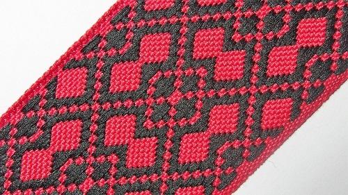 40мм Лента с орнаментом р.2950 красная/черная