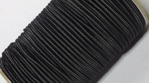 3мм Шнур-резинка, 50м, черный