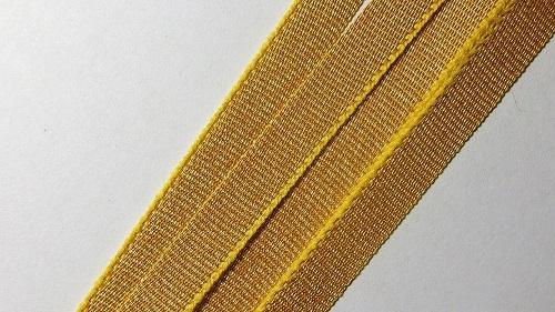 07мм Лента окантовочная люрекс р.3018 золото