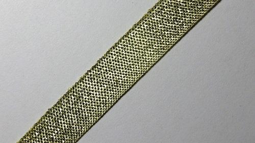12мм Лента окантовочная люрекс р.3088 золото