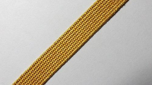 10мм Лента окантовочная люрекс р.3304 золото