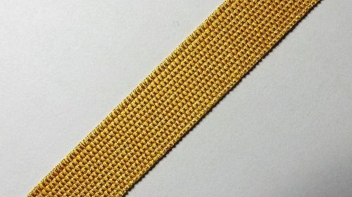 13мм Лента окантовочная люрекс р.3306 золото