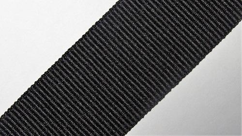 30мм Лента окантовочная репсовая р.3308 черная