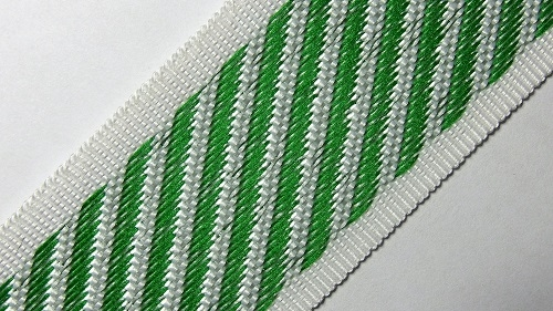 35мм Лента для отделки матрасов р.3310 зеленая