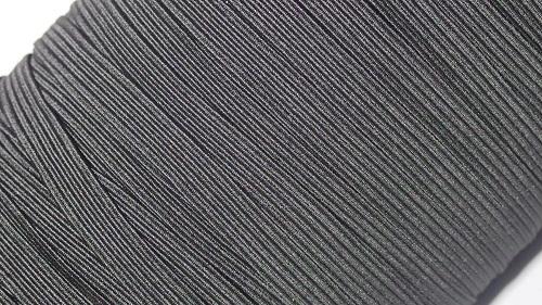 08 Лента эластичная (резинка), 100м, черная