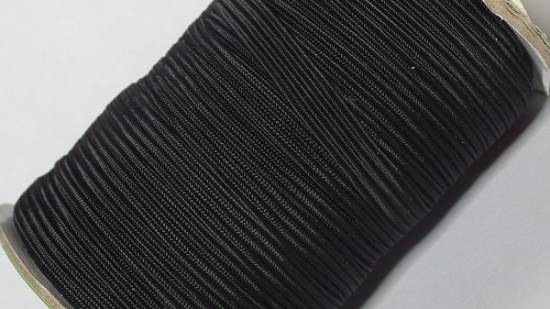 08 Лента эластичная (резинка), 50м, черная