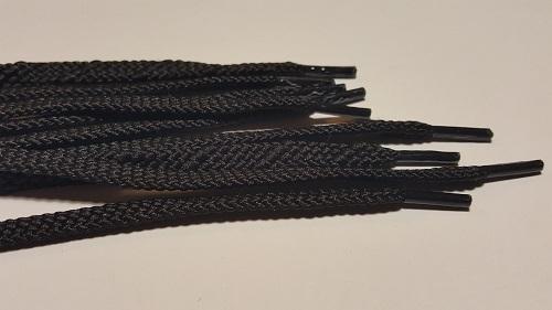 №4 7,0мм Шнурок обувный черный 120см